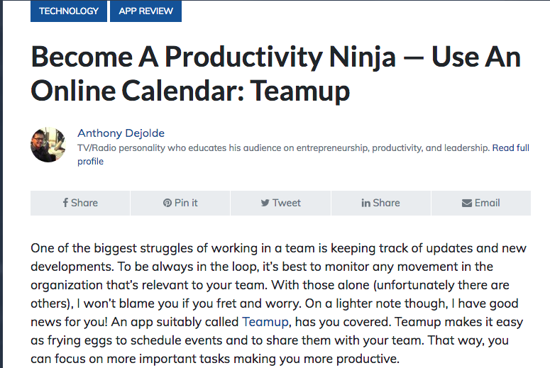 Teamup review: how to become a productivity ninja from LifeHack