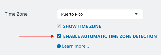 Enable automatic time zone detection in the settings of your calendar