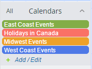 Holiday calendar successfully imported