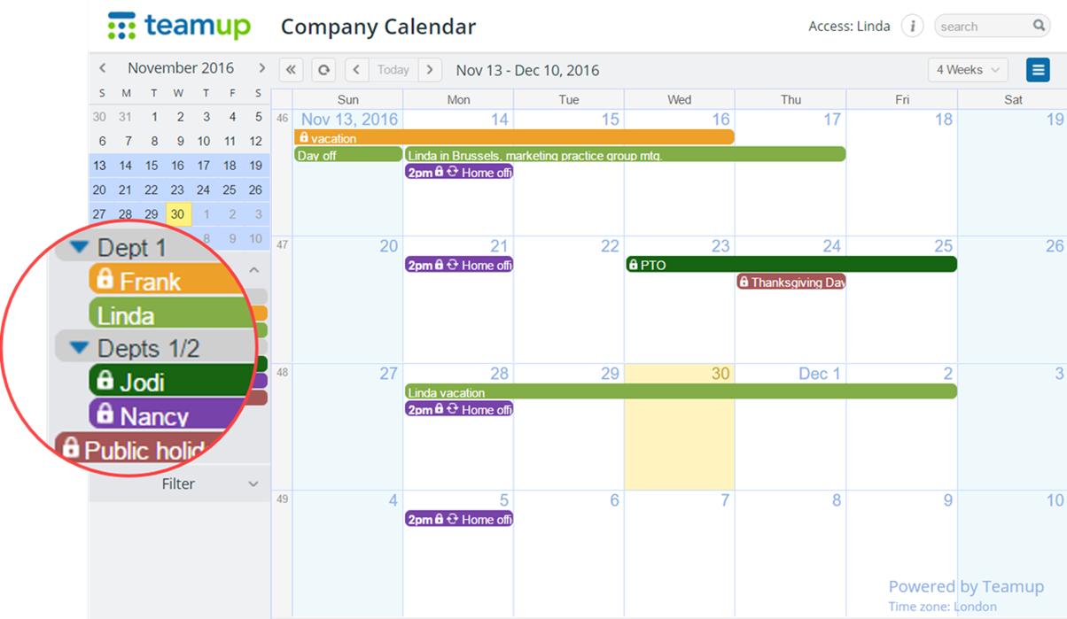 company calendar linda modi