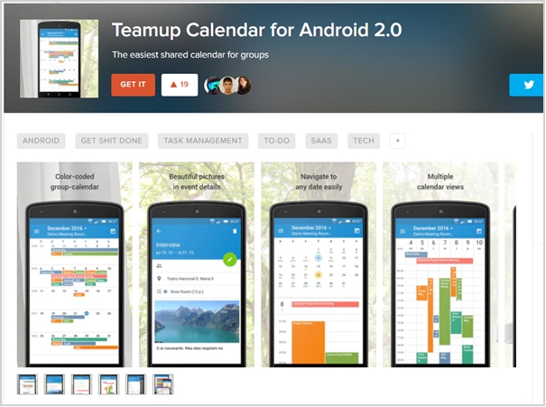 featured teamup for android 2.0