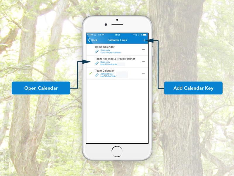 Dashboard for calendar links