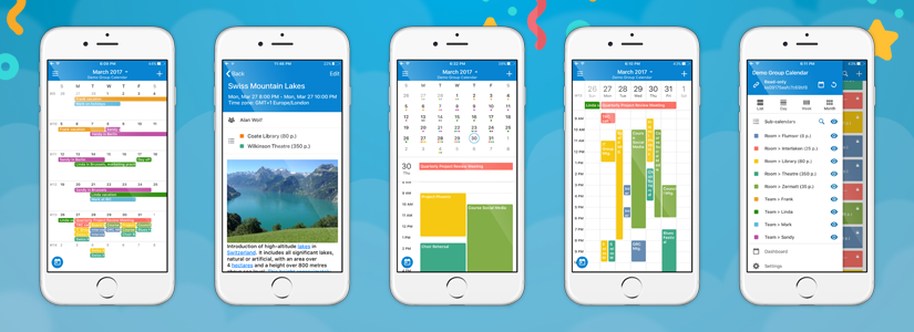 Teamup iOS app with new day week month views