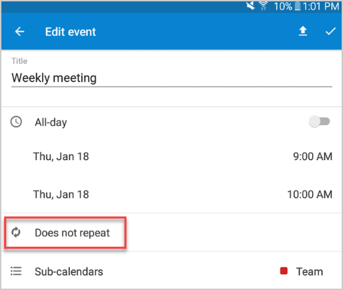 android add a repeating event