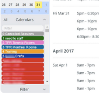 Organize complex class schedules with Teamup.