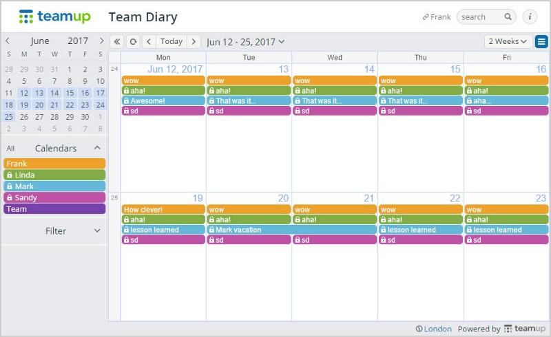 team journaling