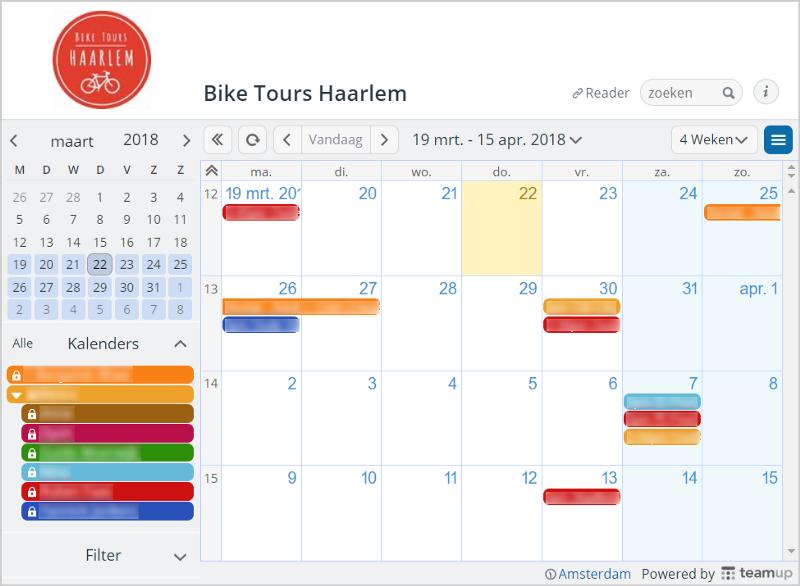 bike tour calendar