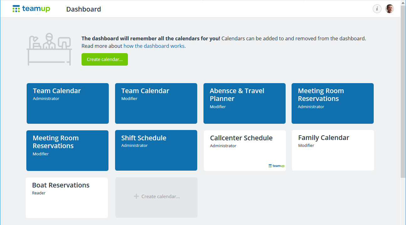 what is the calendar dashboard teamup news tips stories
