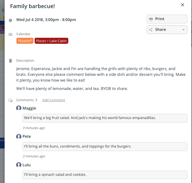 Plan family reunions with a Teamup calendar.