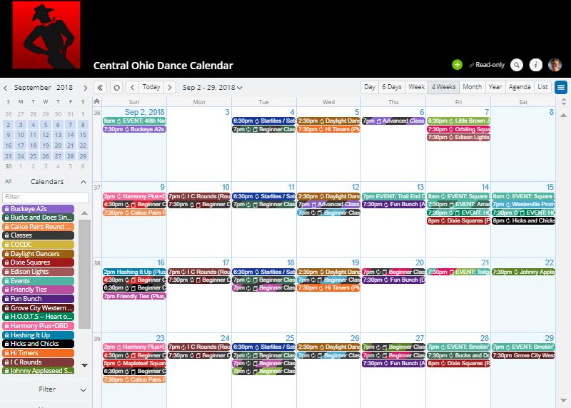 ohio square dance calendar