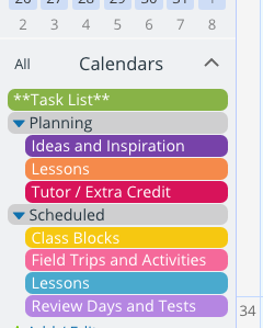 An organized calendar for back-to-school planning