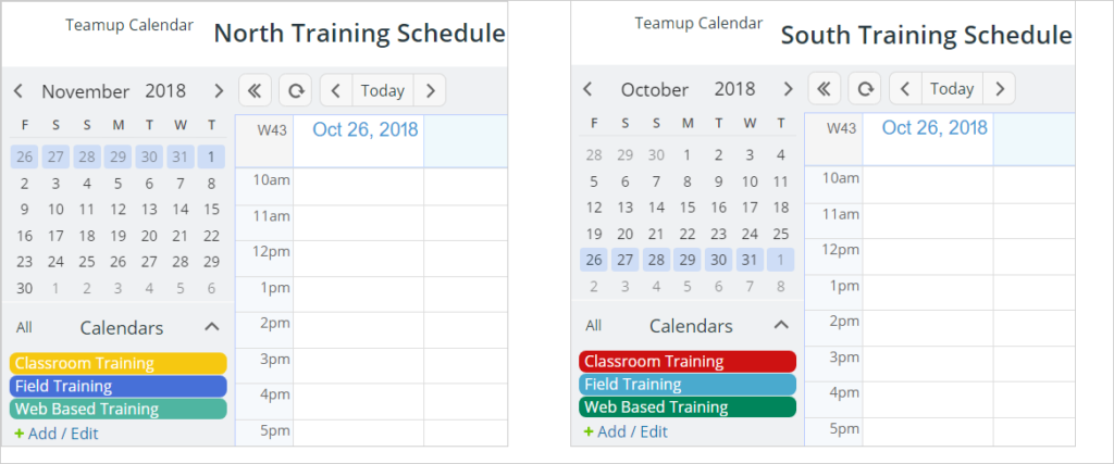 Get a consolidated view of multiple master calendars.
