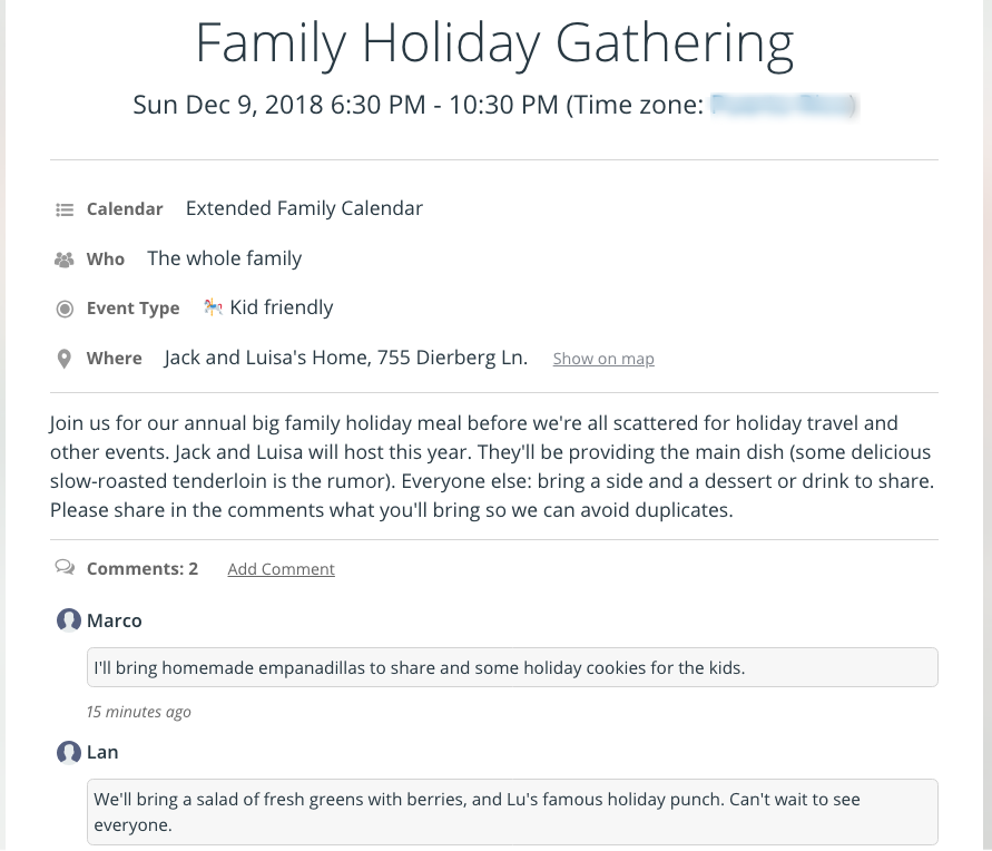 Holiday planning is easier with Teamup Calendar