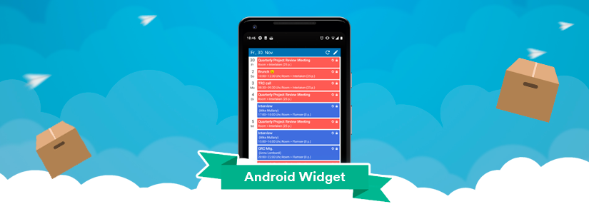 widget for teamup android