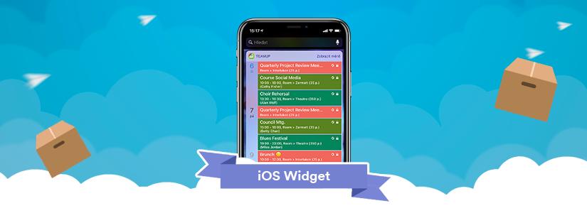 widget for teamup iOS app