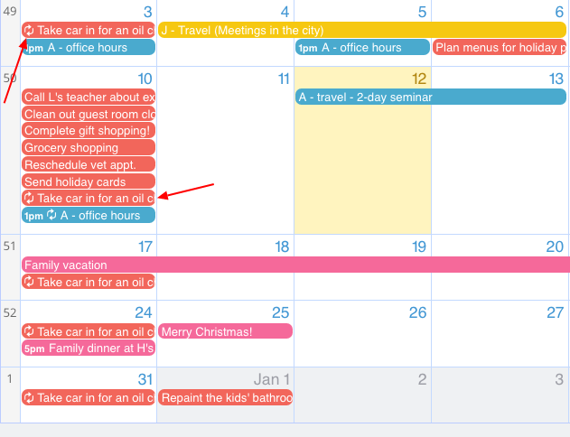 Manage tasks and unscheduled jobs with your Teamup Calendar