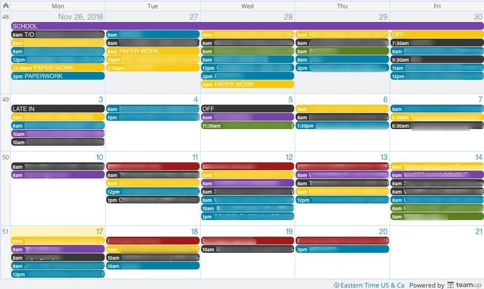 Vantage runs an efficient service department with Teamup Calendar