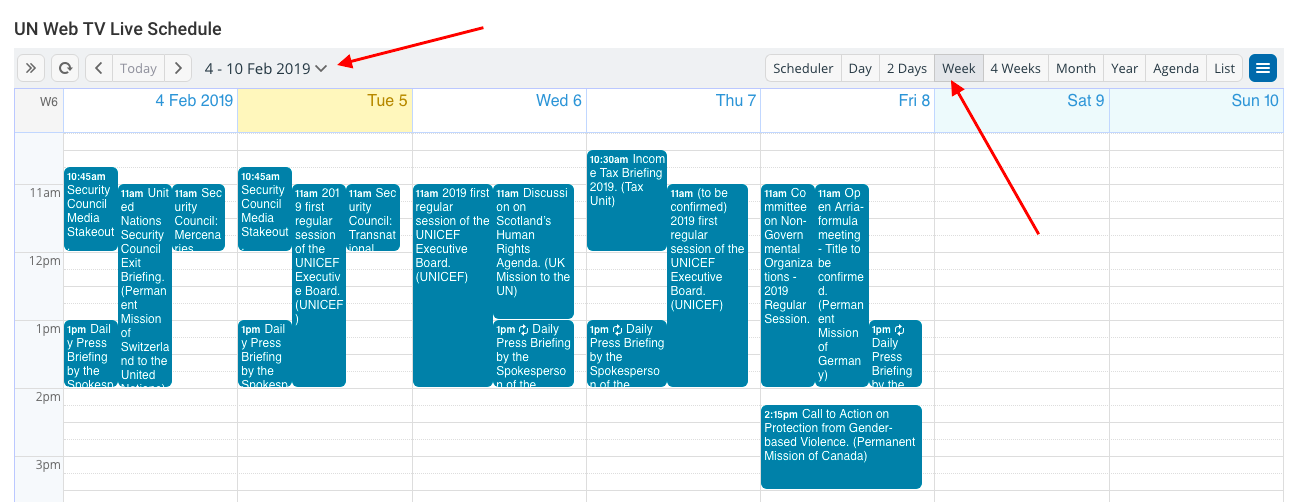 Embed a shared community calendar with Teamup