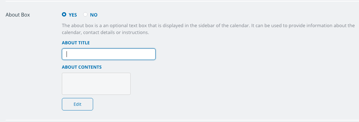 Customize the contents of the About box on your Teamup calendar