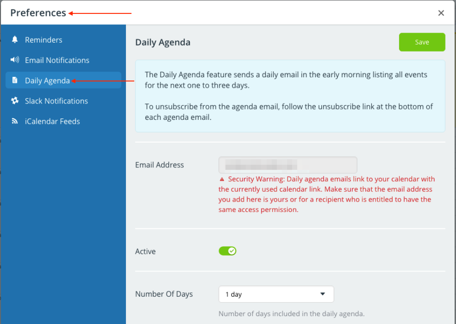 Get a Daily Agenda email automatically with Teamup calendar
