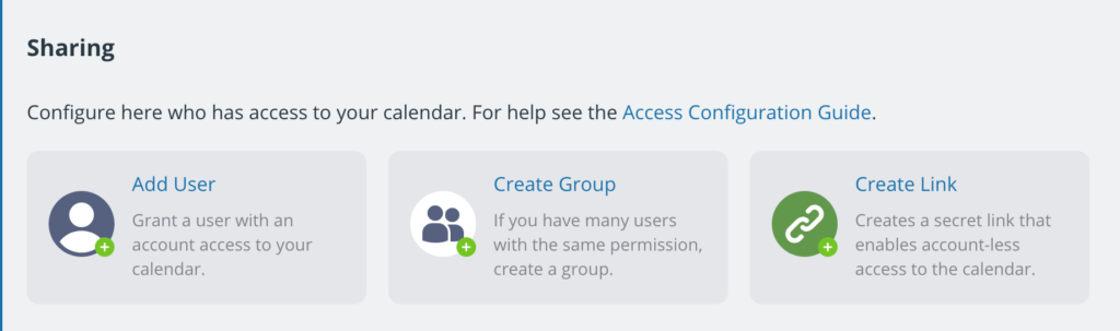Secure account-based calendar access with Teamup.