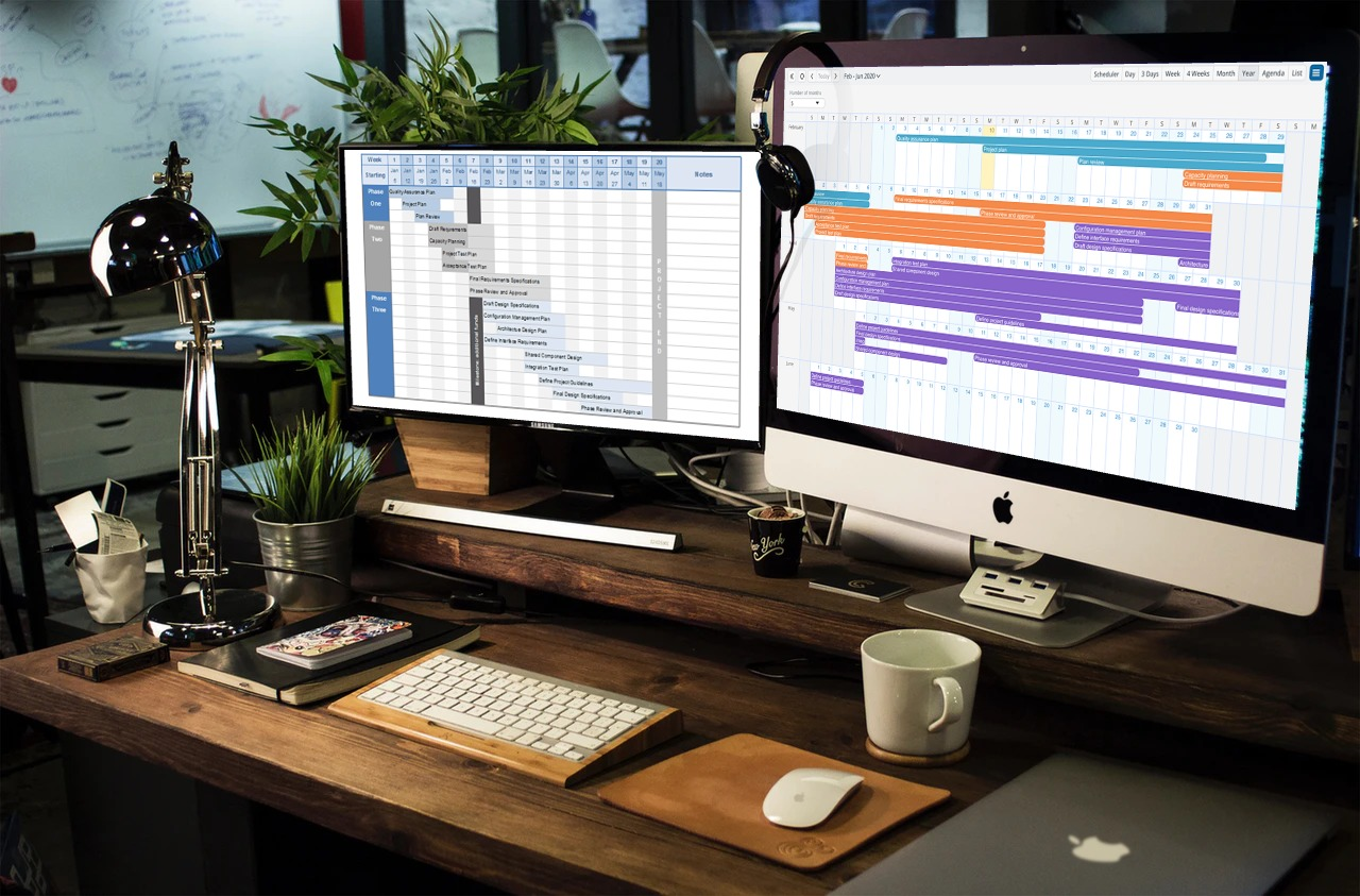 A better project management software with a project timeline