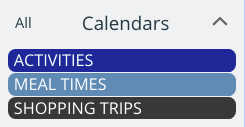 Make calendar titles clear for calendars for elderly users