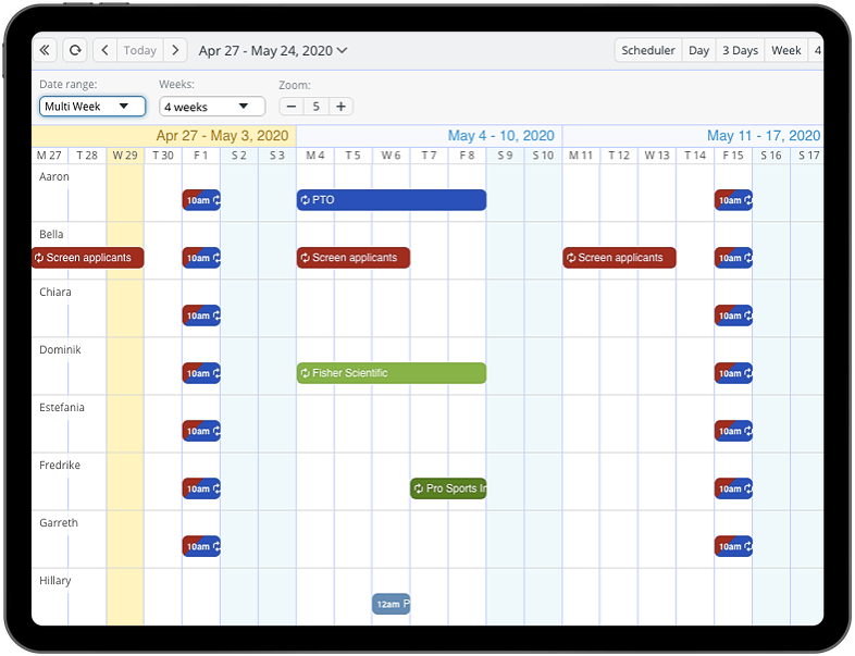 Configure options for how you use the calendar timeline view