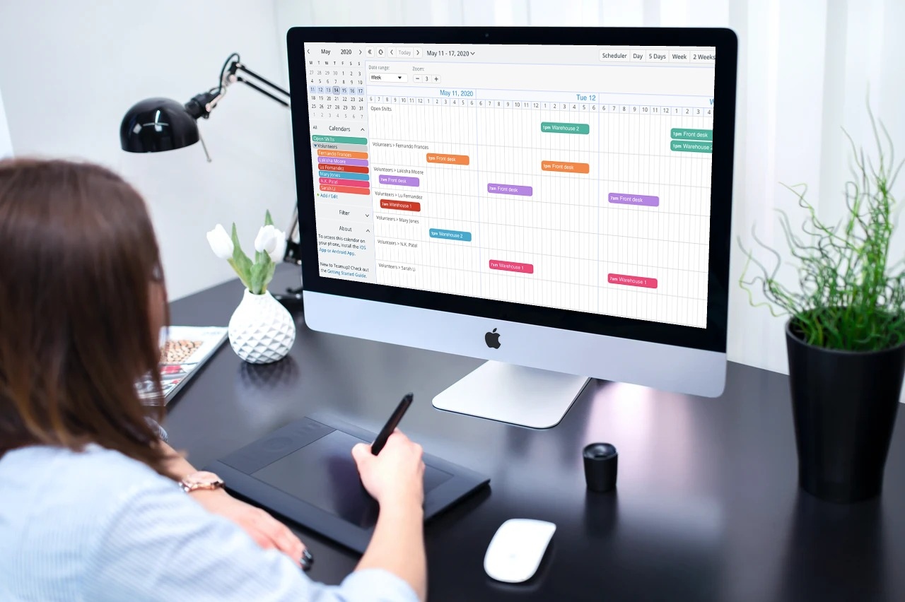 Booking appointments and shift schedules with timeline calendar view from Teamup