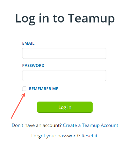 August monthly updates for Teamup include better login and session memory in browser