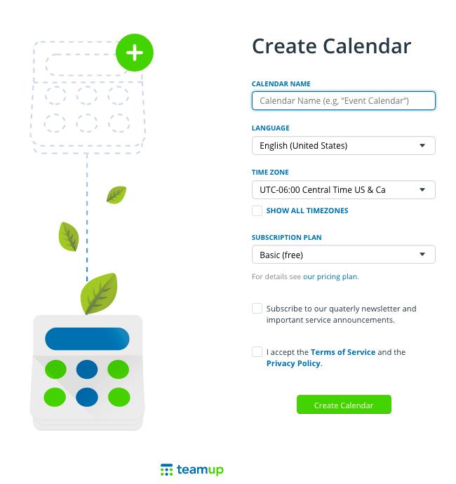 Create a new calendar