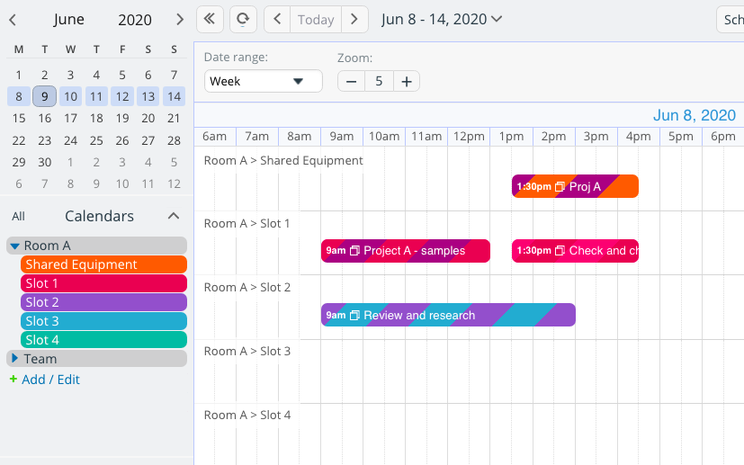 Share calendar in the best way with account users or shareable links