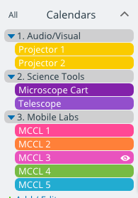 Better calendar setup when you think through how to organize your sub-calendars