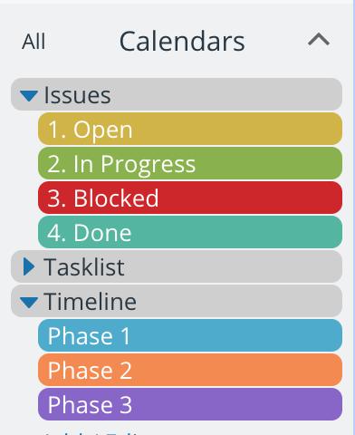 Better calendar setup with organized sub-calendars and folders