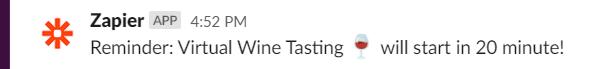 Send event reminder to Slack channel