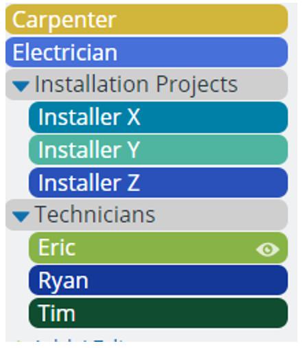 installation calendar setup