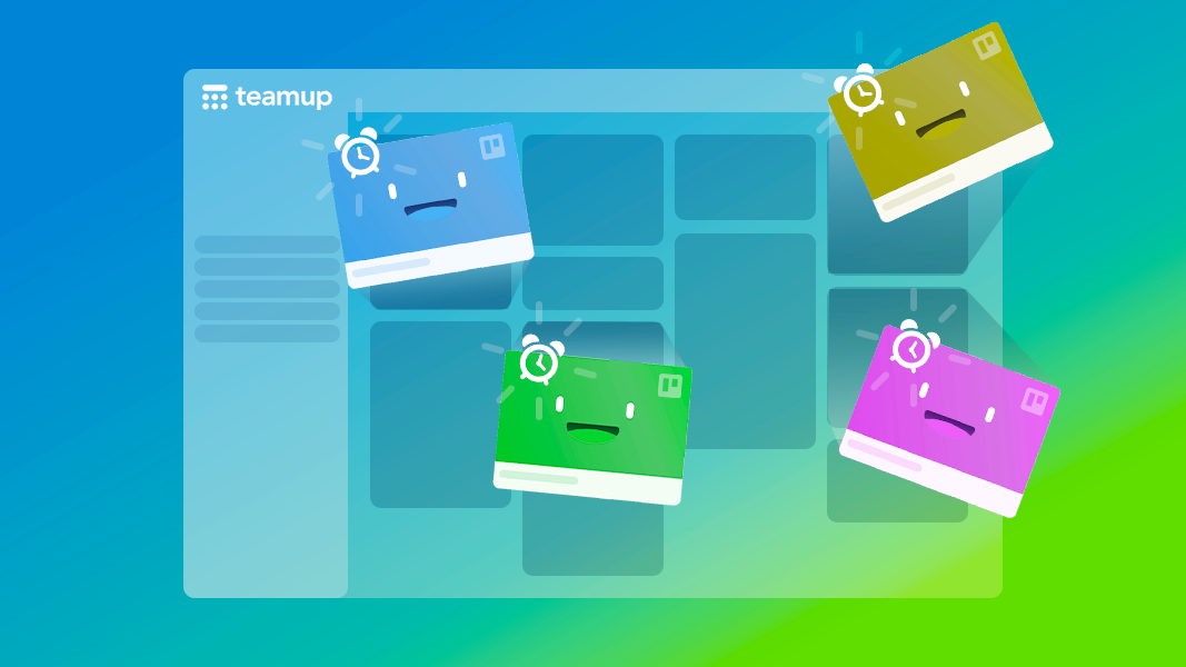 view all trello cards w due dates on Teamup